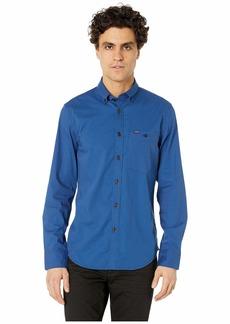 G Star Raw Denim Core Button Down One-Pocket Long Sleeve Slim Shirt