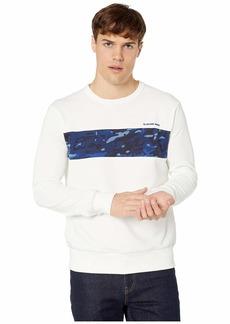 G Star Raw Denim Core Camo Block Round Neck Long Sleeve Sweatshirt