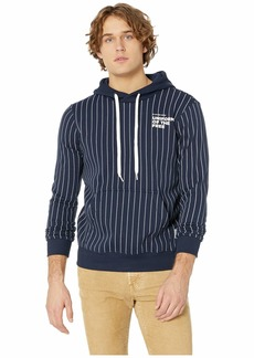 G Star Raw Denim Core Hooded Sweatshirt Pinstripe 1 All Over Long Sleeve