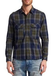 G Star Raw Denim Cotton Check Utility Shirt