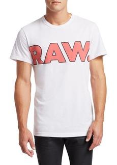 G Star Raw Denim Cotton Crewneck Graphic Tee