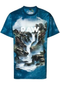 G Star Raw Denim Cyber water printed T-shirt