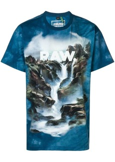 G Star Raw Denim Cyber water printed T-shirt