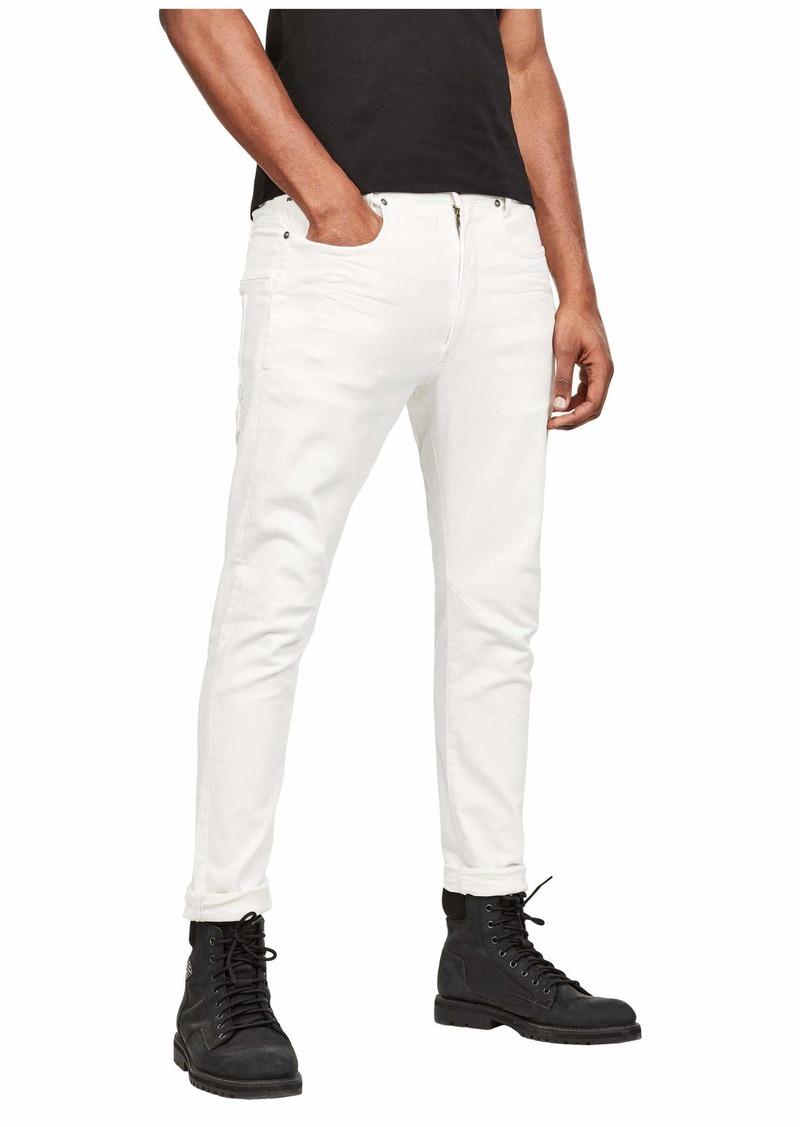 G Star Raw Denim D-Staq 3-D Slim Jeans in White