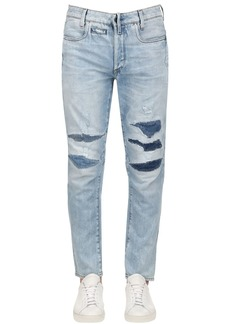 G Star Raw Denim D-staq 3d Tapered Washed Denim Jeans
