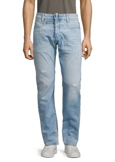 G Star Raw Denim D-Staq Button-Fly Tapered Jeans