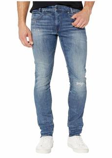 G Star Raw Denim D-Staq Five-Pocket Skinny Jeans in Dark Aged Antic Restored