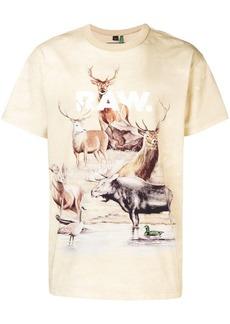 G Star Raw Denim deer print T-shirt