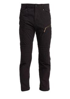 G Star Raw Denim Devol Paneled Zip Straight-Leg Jeans