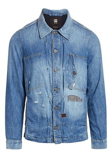 G Star Raw Denim Distressed Denim Shirt