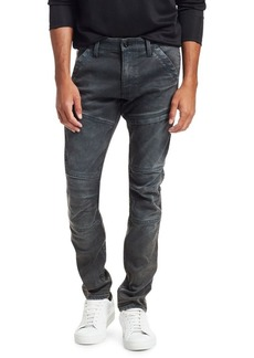 G Star Raw Denim Distressed Ribbed Skinny Jeans