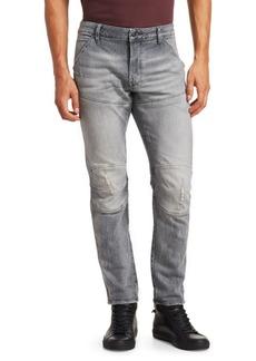 G Star Raw Denim Distressed Slim-FIt Jeans