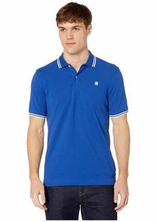 G Star Raw Denim Dunda Slim Stripe Short Sleeve Polo