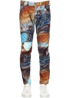 G Star Raw Denim Elwood Printed Tapered Denim Jeans