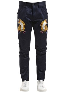 G Star Raw Denim Elwood Tiger Print Tapered Denim Jeans