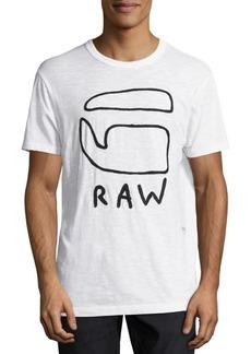 G Star Raw Denim Eyim Embroidered Tee