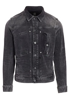G Star Raw Denim Faded Denim Jacket