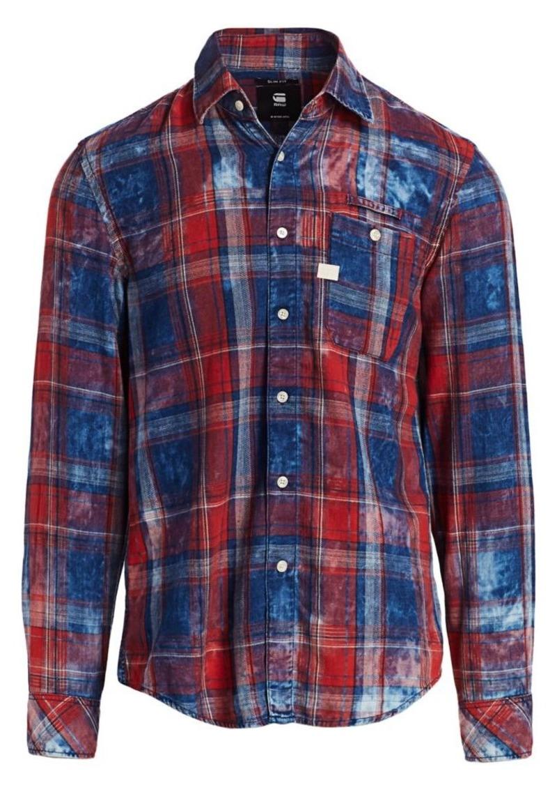 G Star Raw Denim Faded Flannel Check Shirt