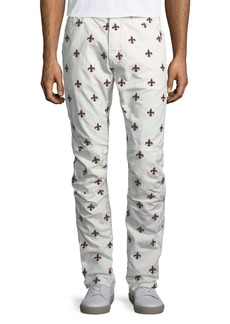 G Star Raw Denim Fleur-de-Lis Embroidered Jeans