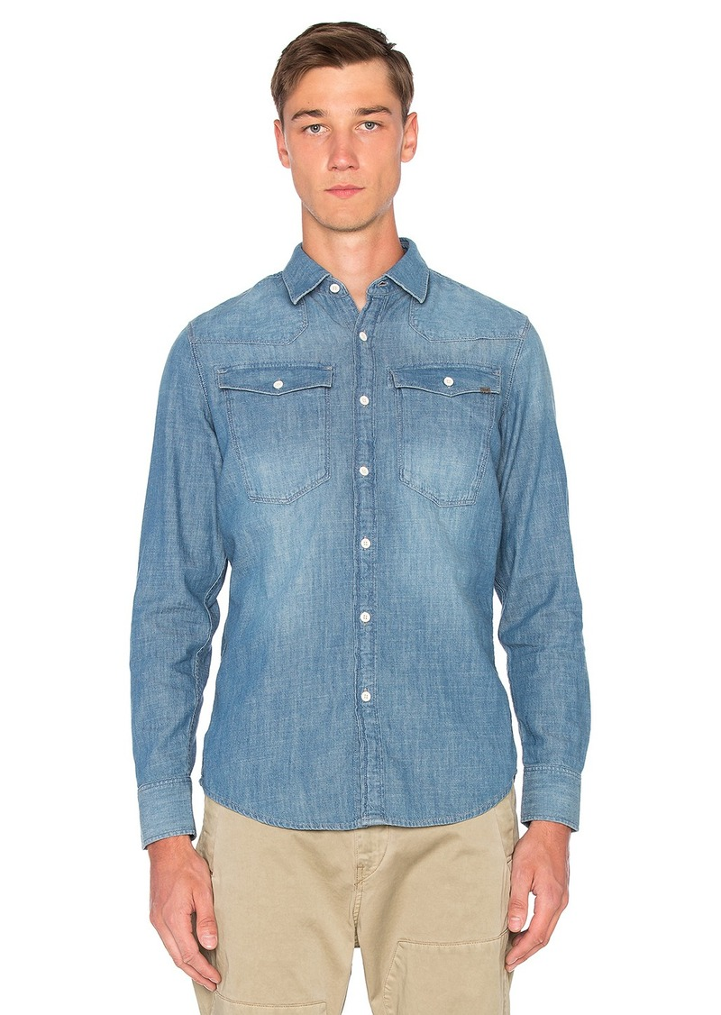 G Star Raw Denim G-Star 3301 Long Sleeve Shirt