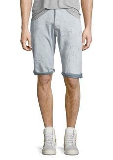 G Star Raw Denim ARC 3D Bleached Wash Shorts with Distressing