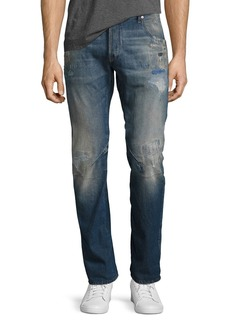 G Star Raw Denim Arc 3D Slim Distressed Patch Jeans