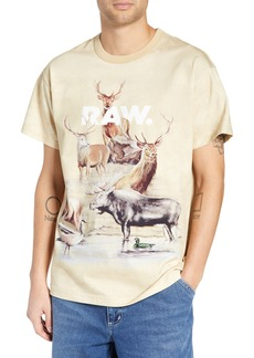 G Star Raw Denim G-Star Cyrer Animal Loose T-Shirt