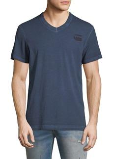 G Star Raw Denim Doax V-Neck Heathered Jersey T-Shirt