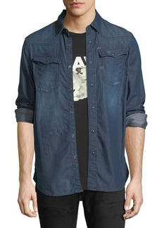 G Star Raw Denim Kinney Lightweight Distressed Denim Shirt