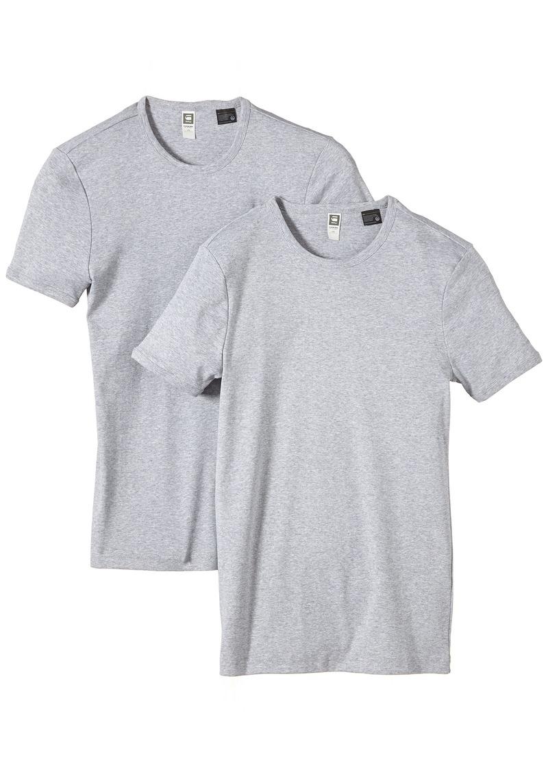 G Star Raw Denim G-Star Men's 2 Pack Crew Neck Short Sleeve T-Shirt