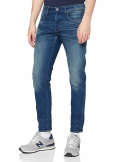 G Star Raw Denim G-Star Men's 3301 Slim-Fit Jean in Firro Denim  3430