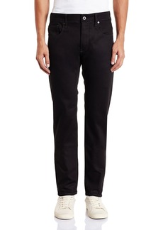 G Star Raw Denim G-Star  Men's 3301 Slim Fit Pant in Black Edington Stretch Denim   38x32