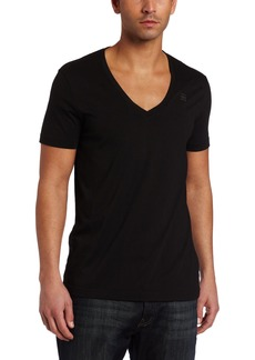 G Star Raw Denim G-Star Men's Base HTR Short Sleeve V-Neck T-Shirt