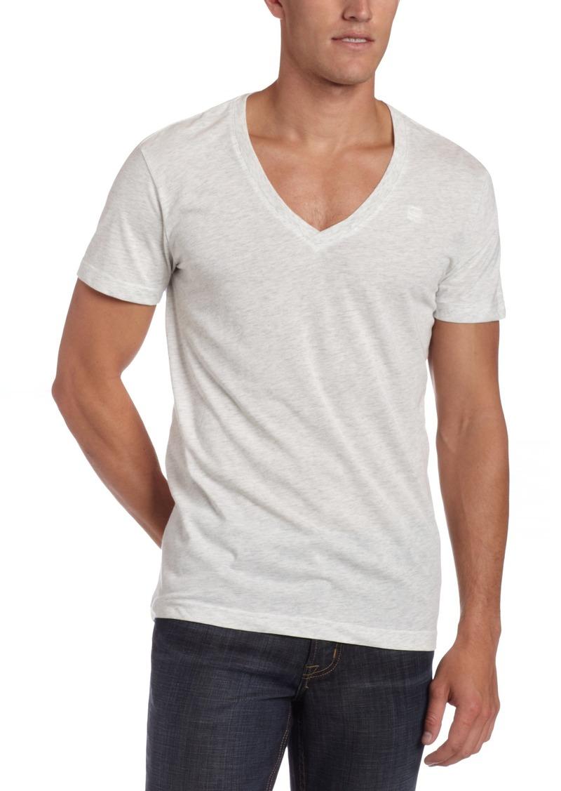 G Star Raw Denim G-Star Men's Heather 2 Pack Short Sleeve V-Neck T-Shirt