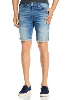 G Star Raw Denim G-STAR RAW 3301 Denim Slim Fit Shorts in Vintage Striking Blue