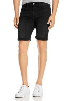 G Star Raw Denim G-STAR RAW 3301 Denim Slim Fit Shorts in Worn In Meteor