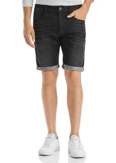 G Star Raw Denim G-STAR RAW 3302 Slim Fit Denim Shorts in Medium Gray Aged