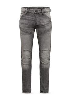G Star Raw Denim G-STAR RAW 3D Slim Fit Moto Jeans in Faded Anchor