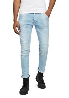 G Star Raw Denim G-STAR RAW 5620 3-D Slim Fit Jeans in Sun Faded Crystal Blue