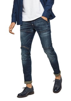 G Star Raw Denim G-STAR RAW 5620 3-D Zip Knee Skinny Fit Jean in Wave Destroyed