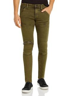 G Star Raw Denim G-STAR RAW 5620 3-D Zip-Knee Skinny Fit Jeans in Dark Shamrock