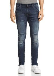 G Star Raw Denim G-STAR RAW 5620 3D Ankle Zip Skinny Fit Jeans in Authentic Dark Aged