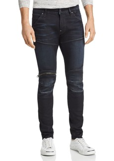 G Star Raw Denim G-STAR RAW 5620 3D Knee Zip Skinny Fit Jeans in Dark Aged