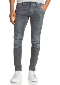 G Star Raw Denim G-STAR Raw 5620 3D Knee-Zip Skinny Jeans in Dark Aged Cobler