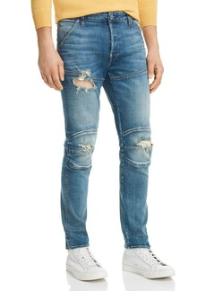 G Star Raw Denim G-STAR RAW 5620 3D Slim Fit Jeans in Medium Aged Ripped
