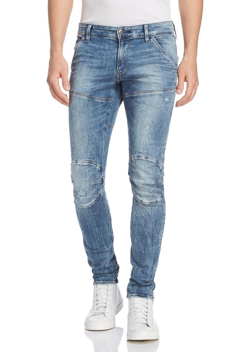 6958d3058f2 G-STAR RAW 5620 3D Super Slim Fit Jeans in Light Vintage Aged Destroyed