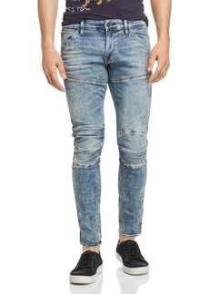 G Star Raw Denim G-STAR RAW 5620 3D Zip-Knee Skinny Fit Jeans in Light Vintage Aged