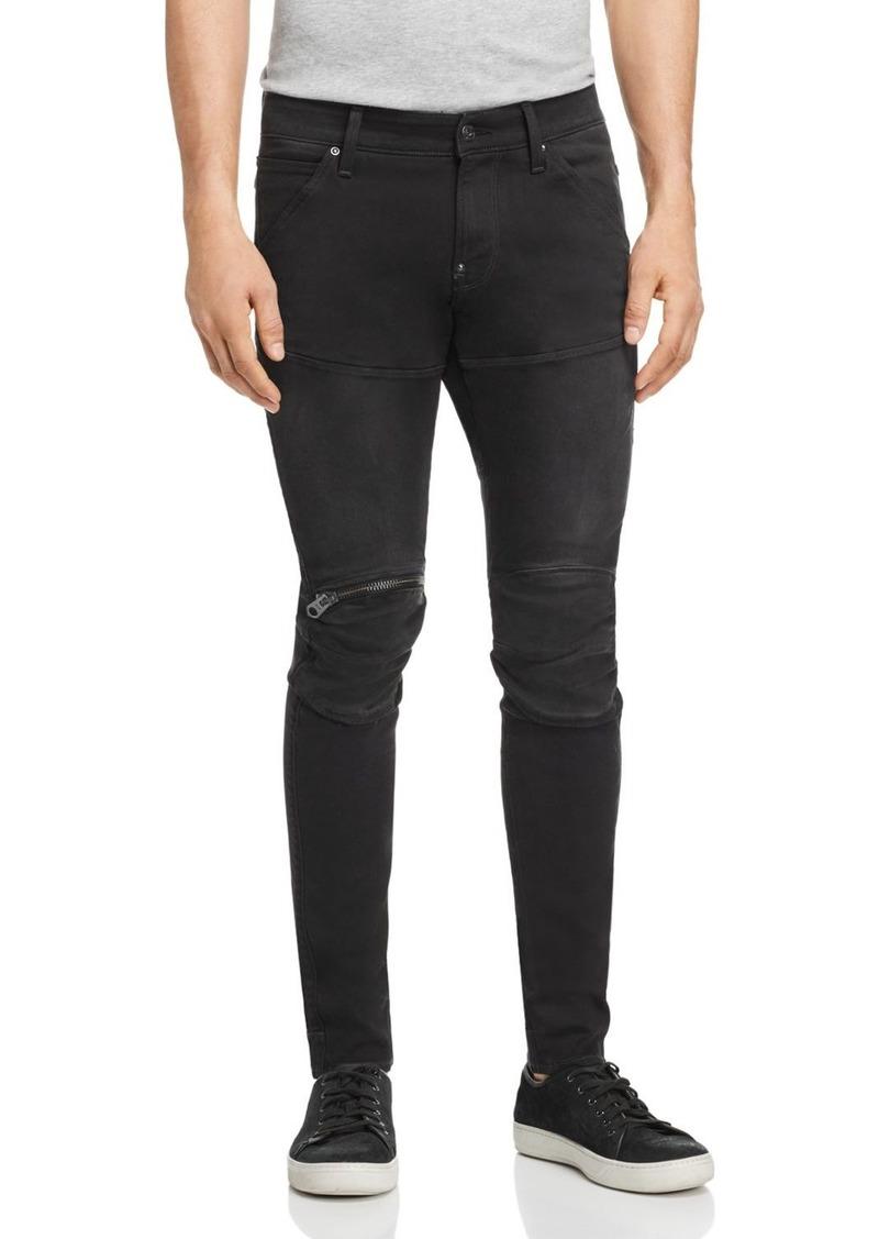 G Star Raw Denim G-STAR RAW 5620 3D Zip-Knee Skinny Fit Jeans in New Dark Aged