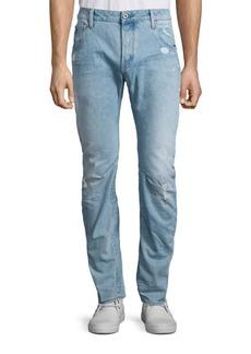 G Star Raw Denim Arc 3D Distressed Slim-Straight Jeans