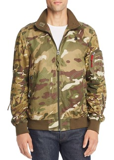 G Star Raw Denim G-STAR RAW Bolt Camouflage-Print Bomber Jacket